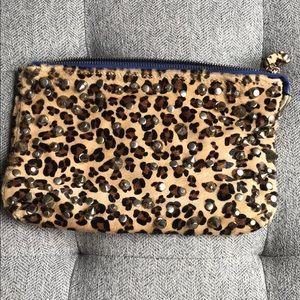 Zara leopard print clutch